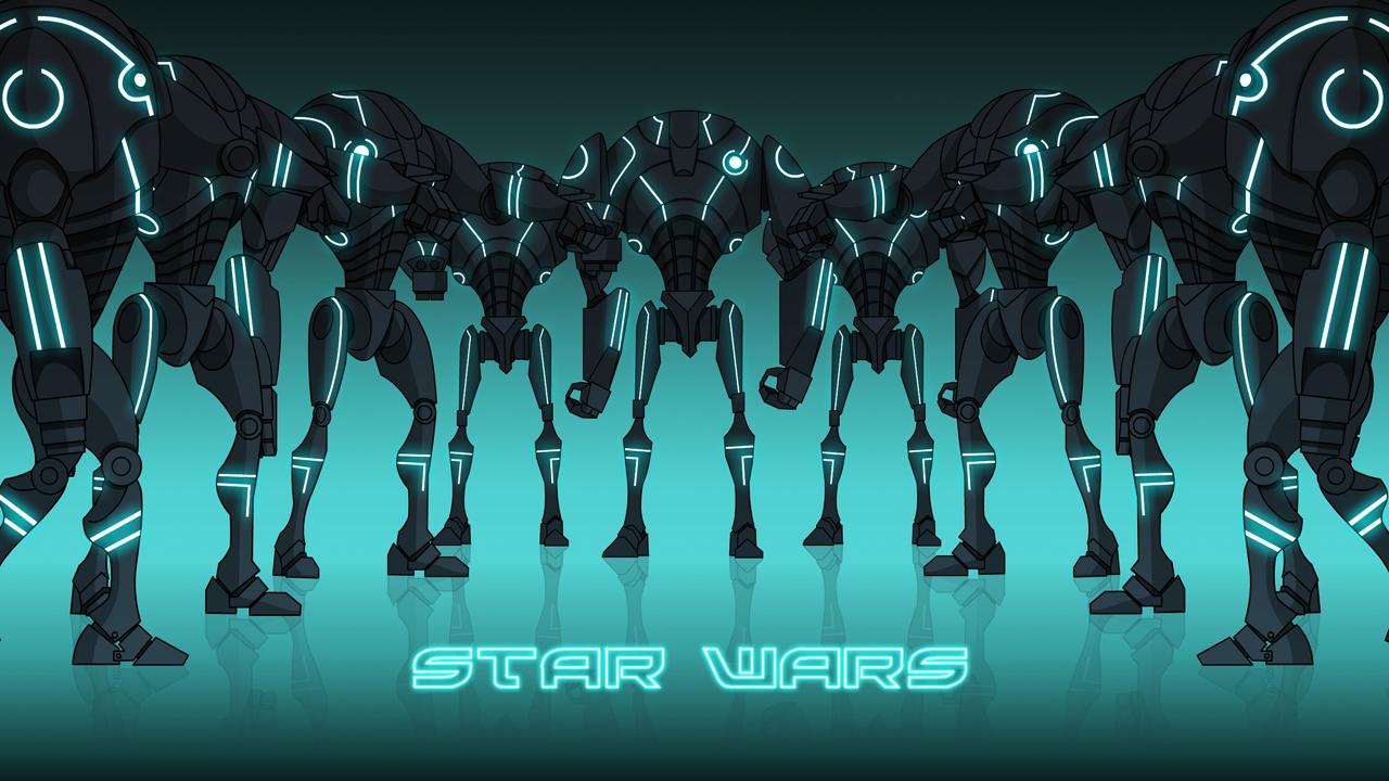 Super Tron Battle Droids