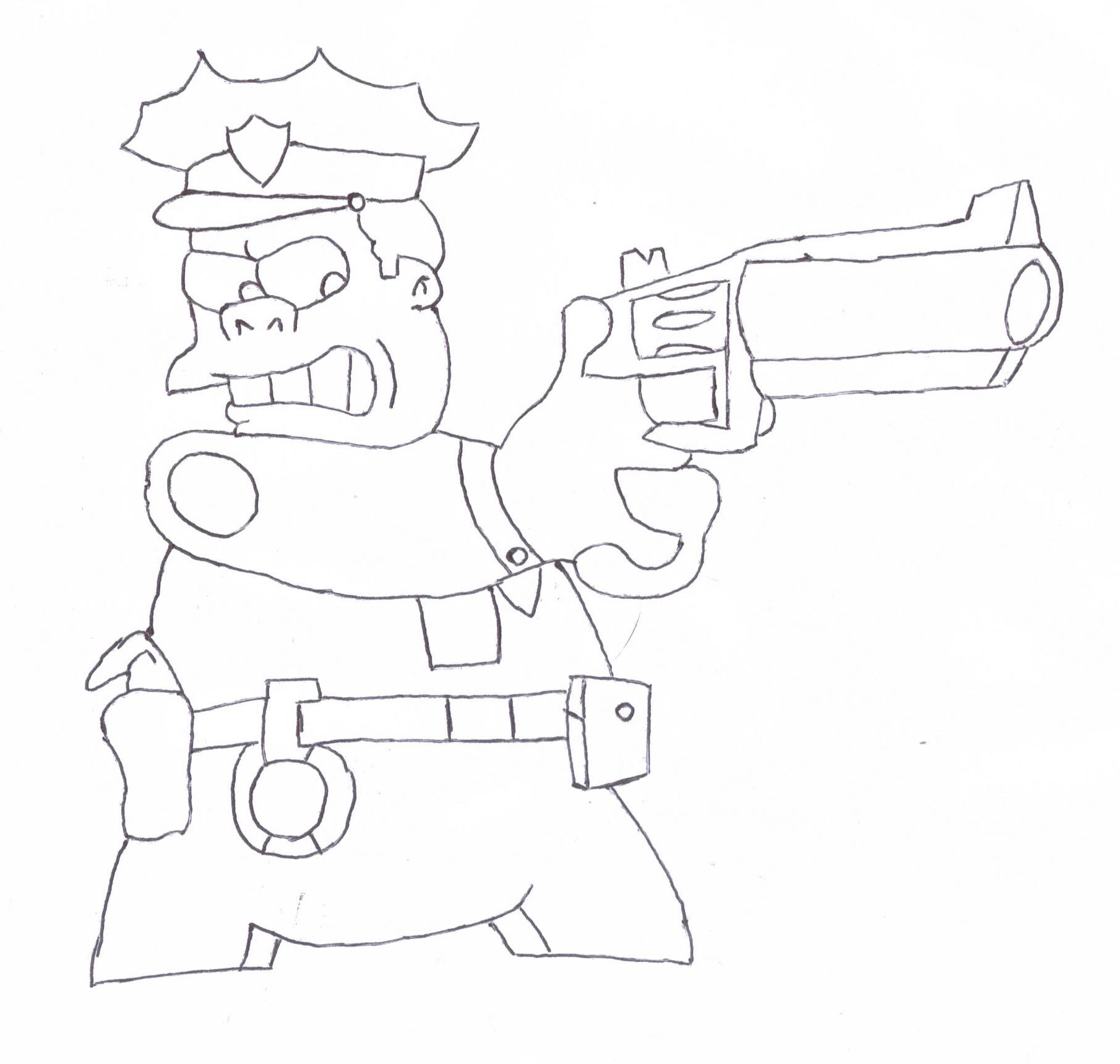 Chief Wiggum Sketch