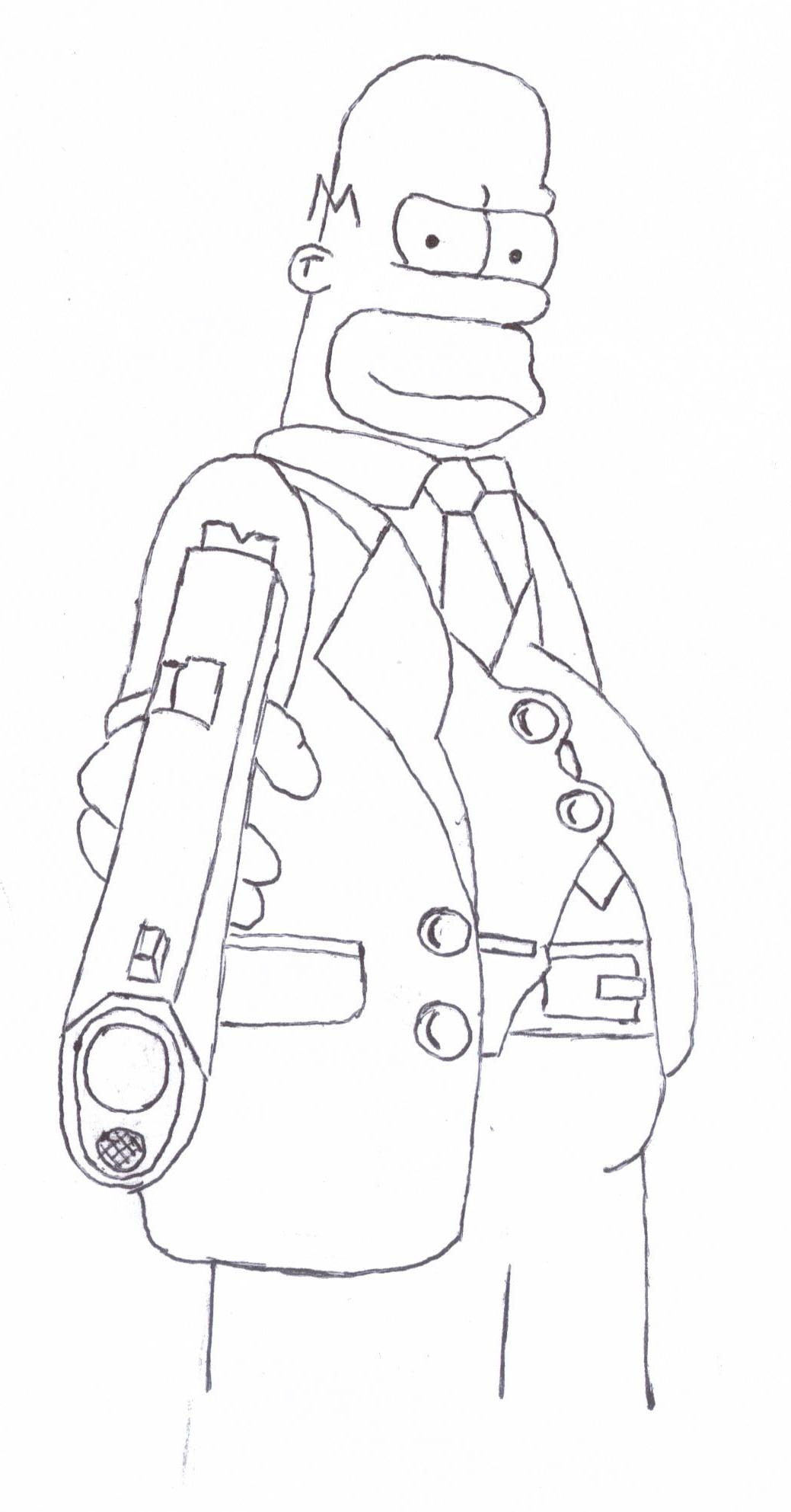 Don Homer Sketch