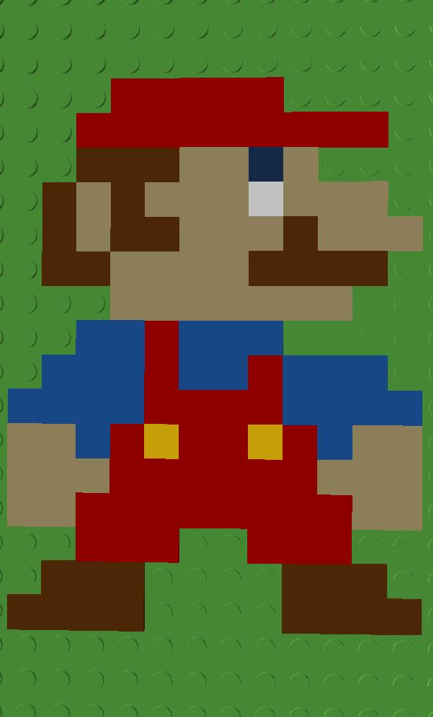 Lego Pixel Mario
