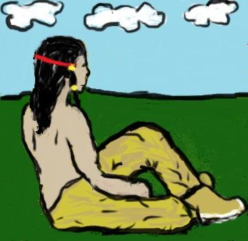 Sitting Warrior