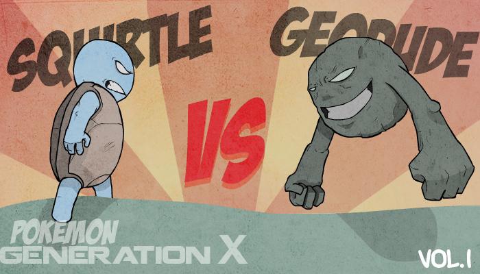 Squirtle vs Geodude