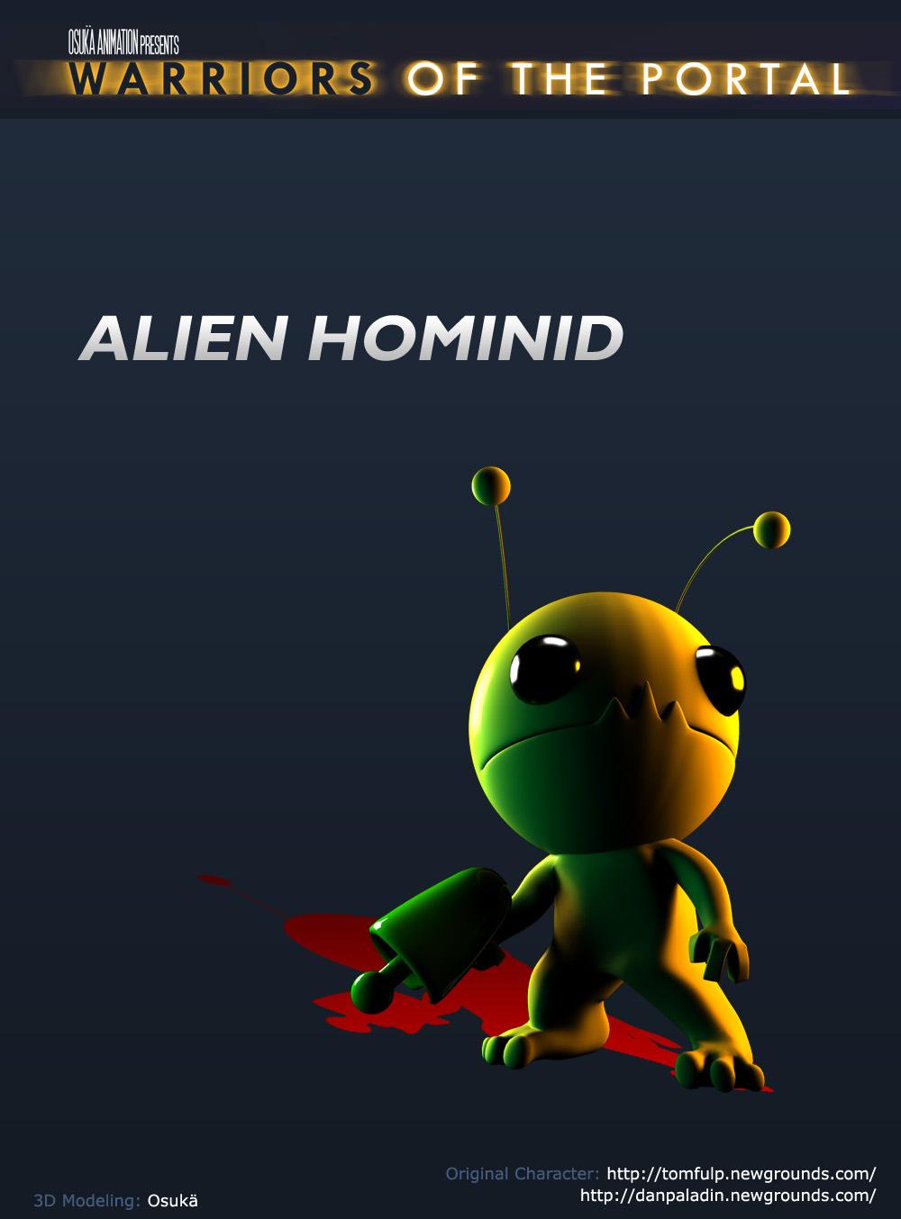3D Alien Hominid