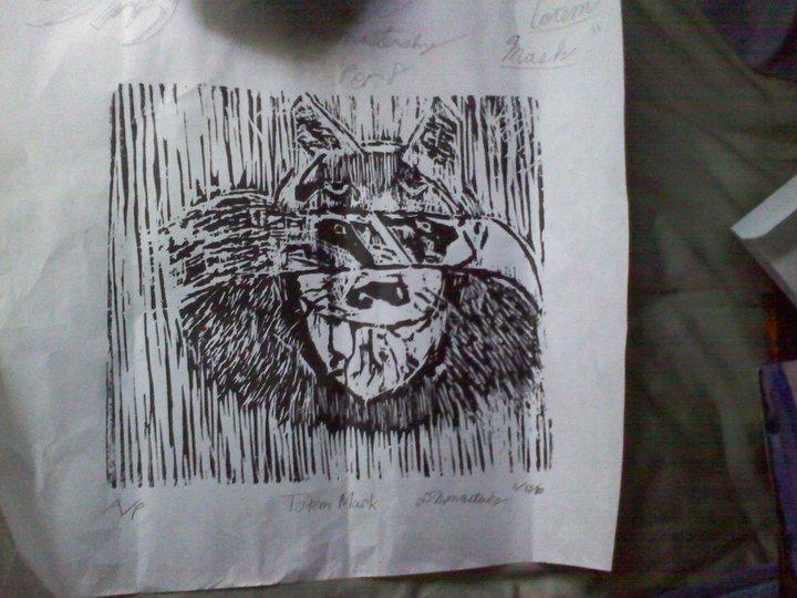 Totem Mask - Print