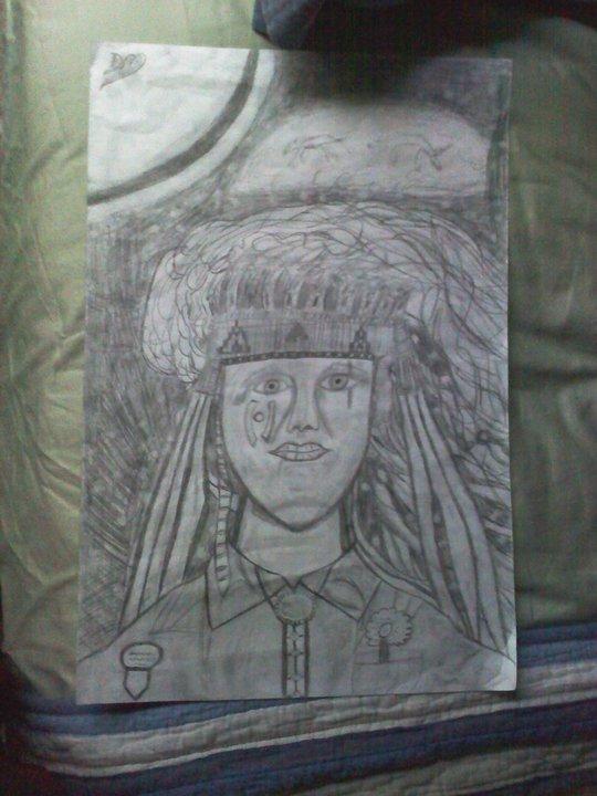 Tribal Self Portait - Graphite
