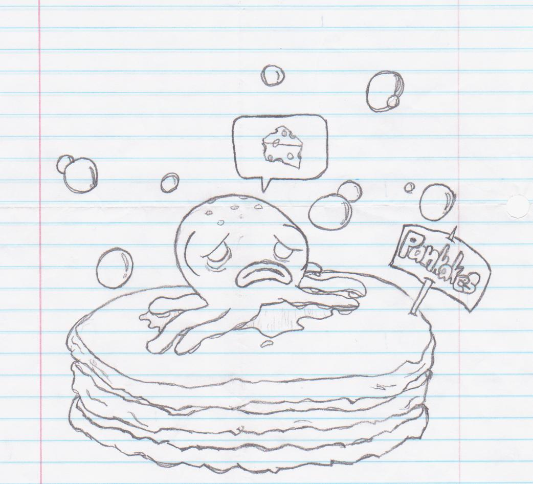 Cheesy Octopus On A Pancake