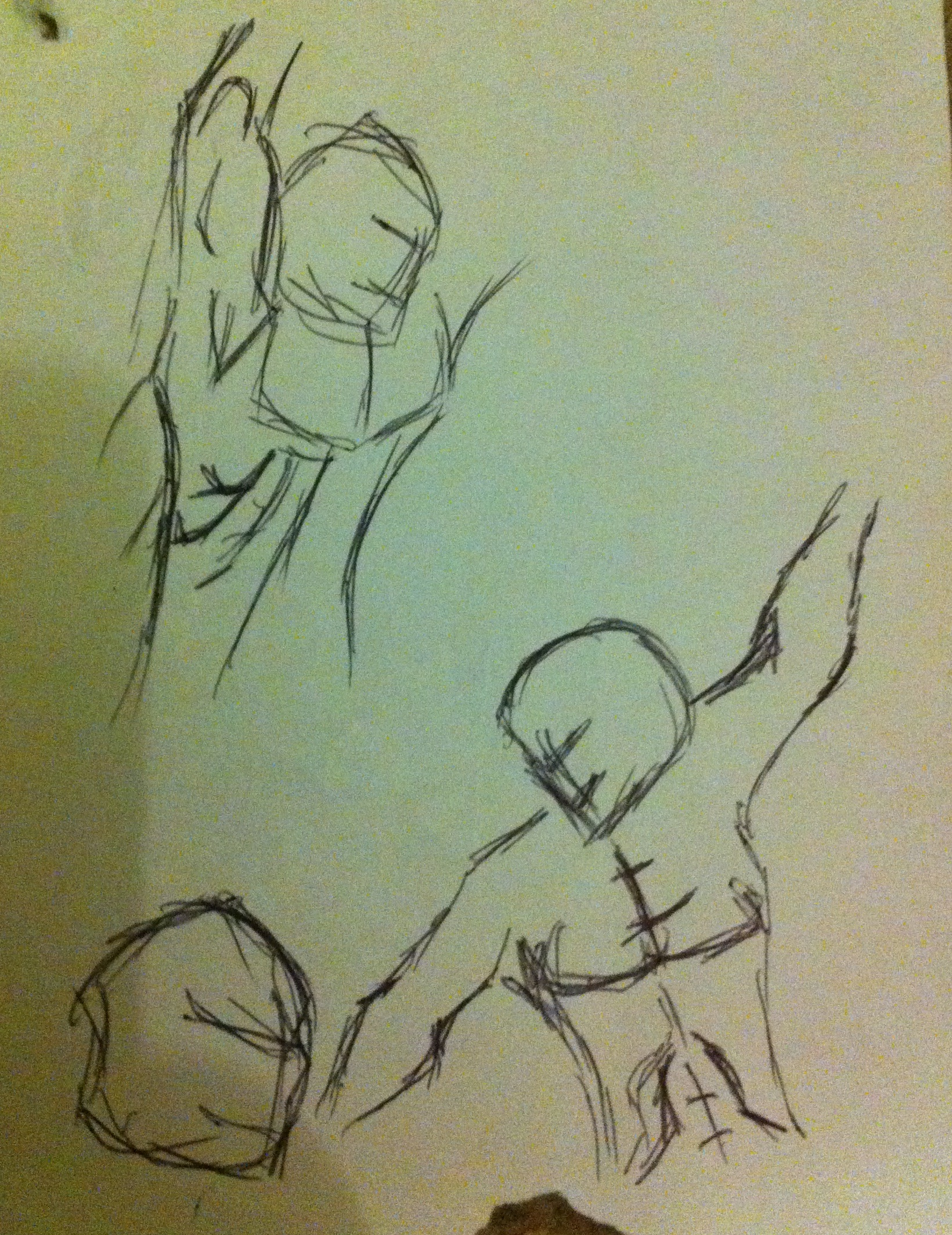 muscular sketches