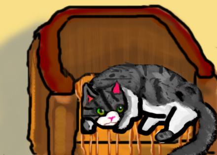 Cat Portrait(Armchair)