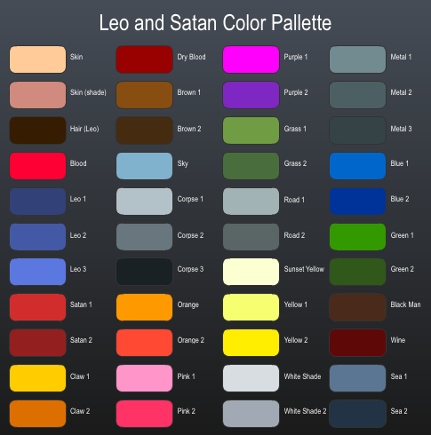 Leo and Satan Color Palette