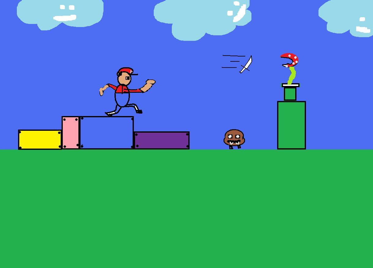Mario throwing knife