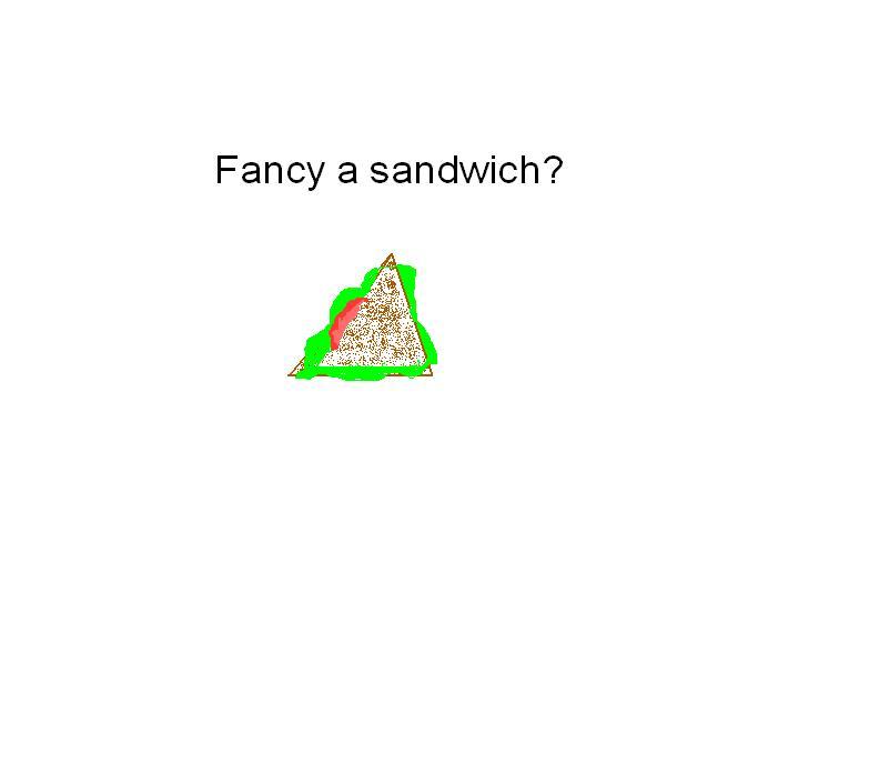 fancy sandwich.