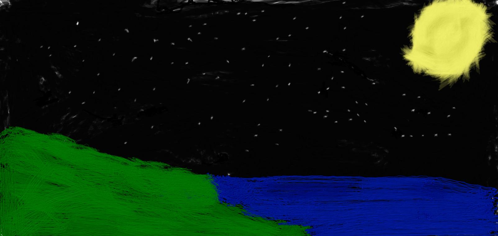 Hillside by Moonlight