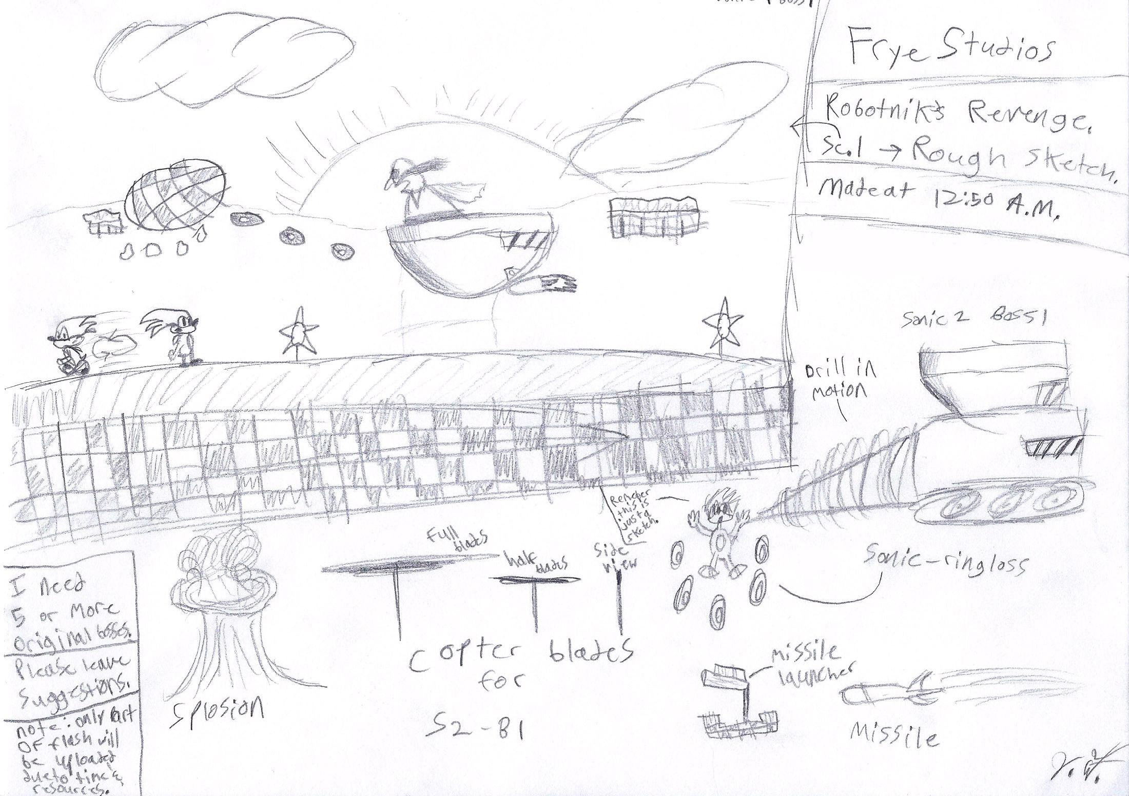 Robotnik's Revenge sketches