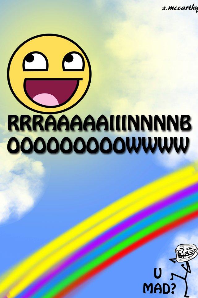 rainbow, u mad?