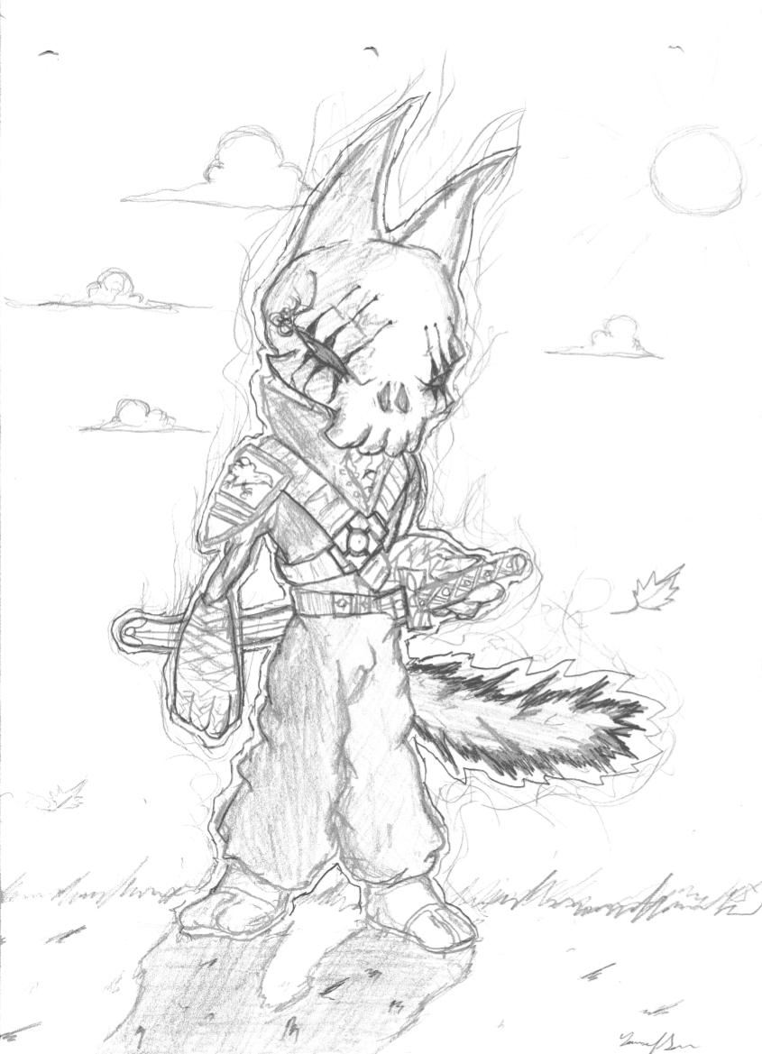 Racoon warrior