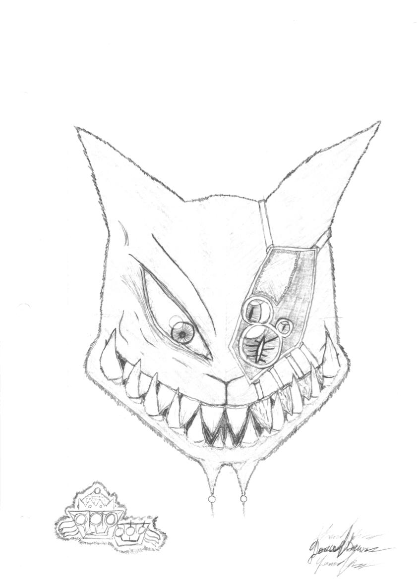 Werewolf with robot eyes