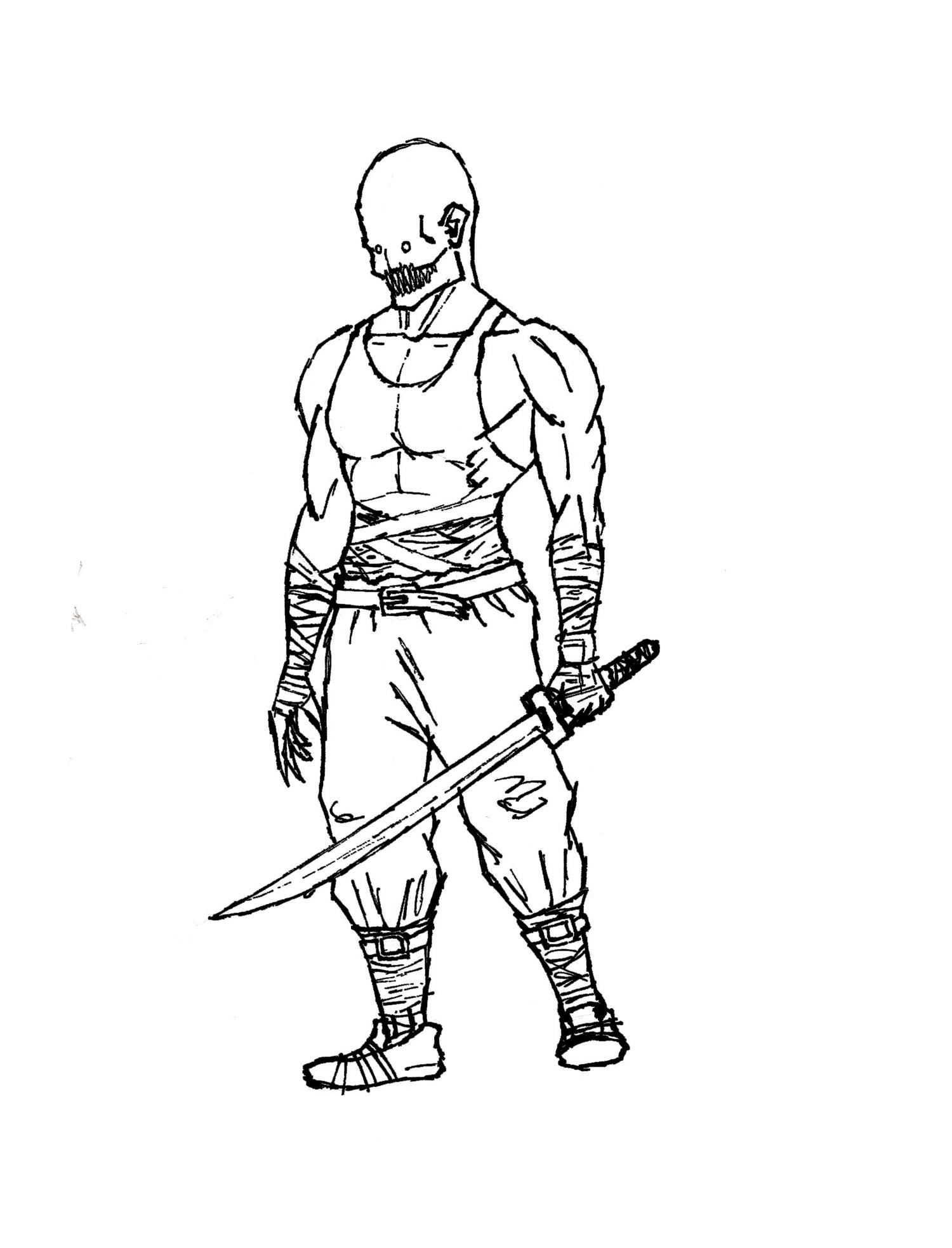 Vampire Ninja Lineart