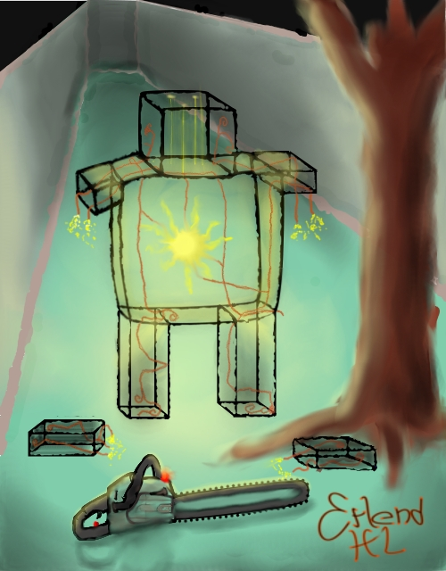 Glass-man's terrible world