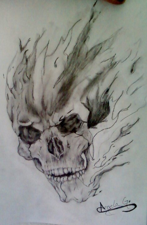 falling skull