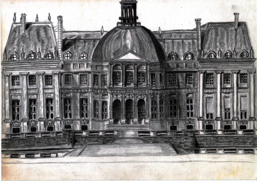 Pencil drawing of building