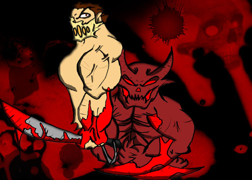 splatterhouse rick and demon