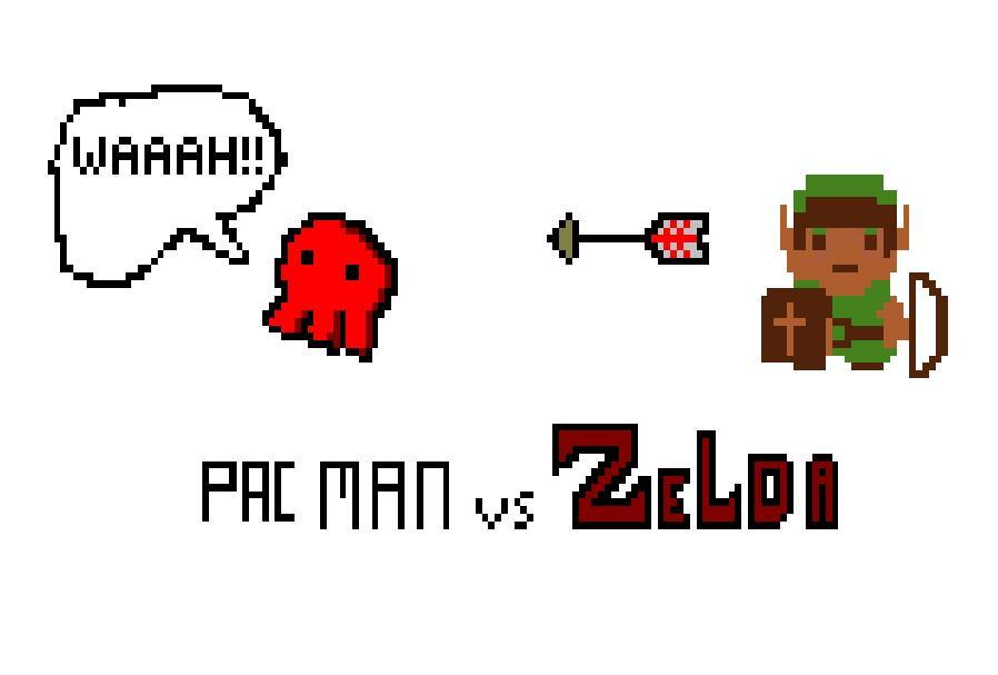 Zelda vs Pac Man