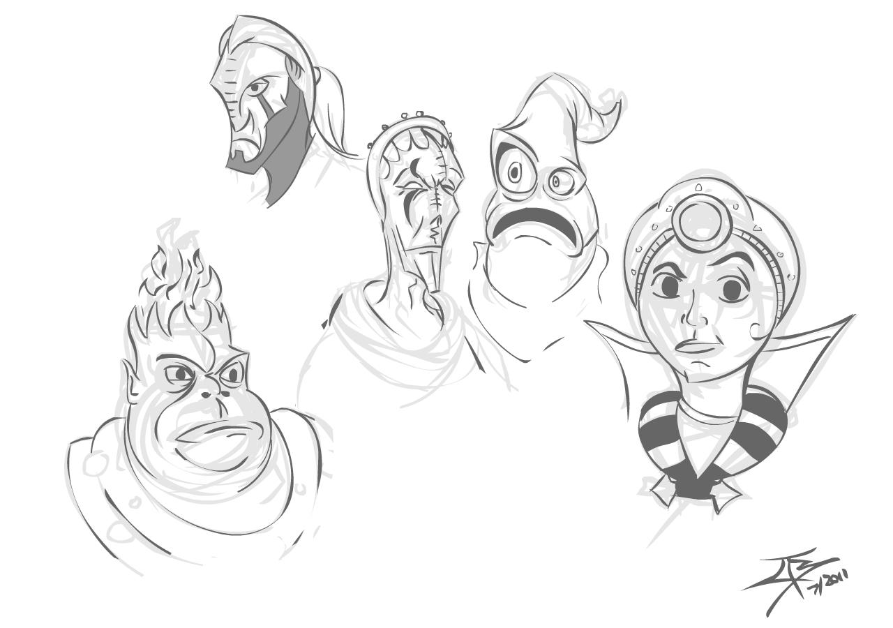 Sacrifice character sketches