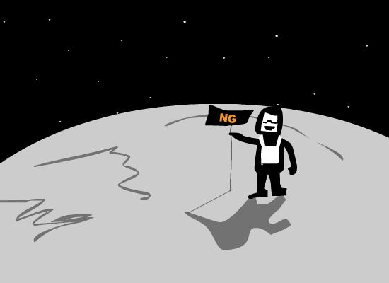 Tankman on the moon
