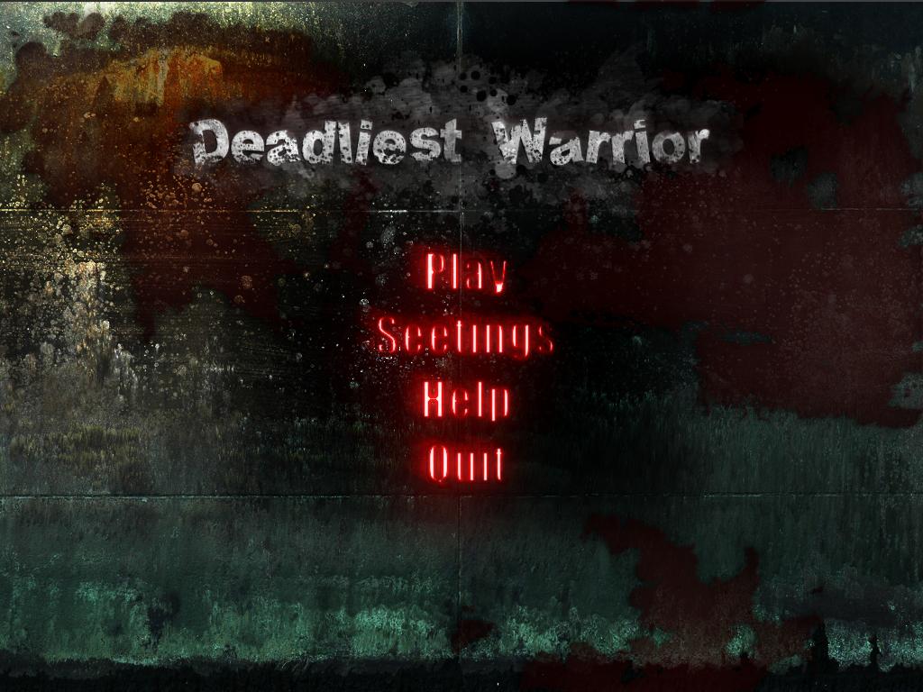 Deadliest Warrior - Menu