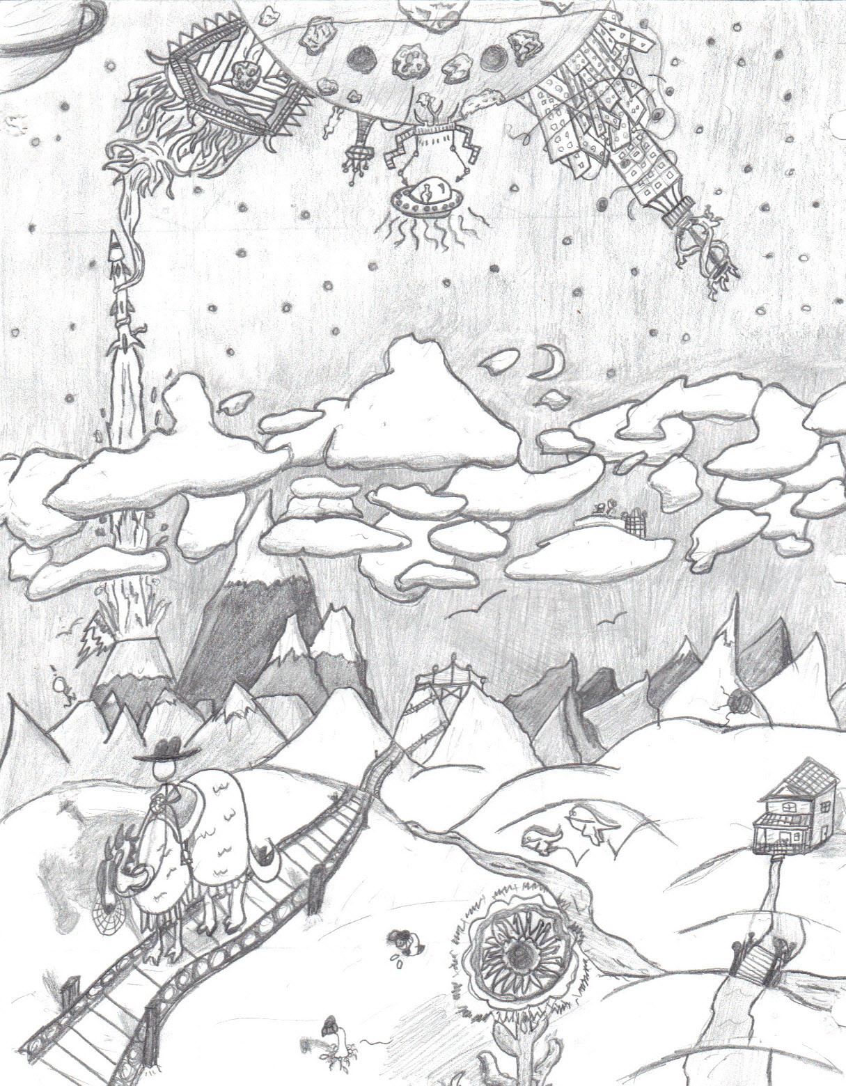 Odd planetscape