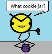 Angry Faic and Cookie Jar