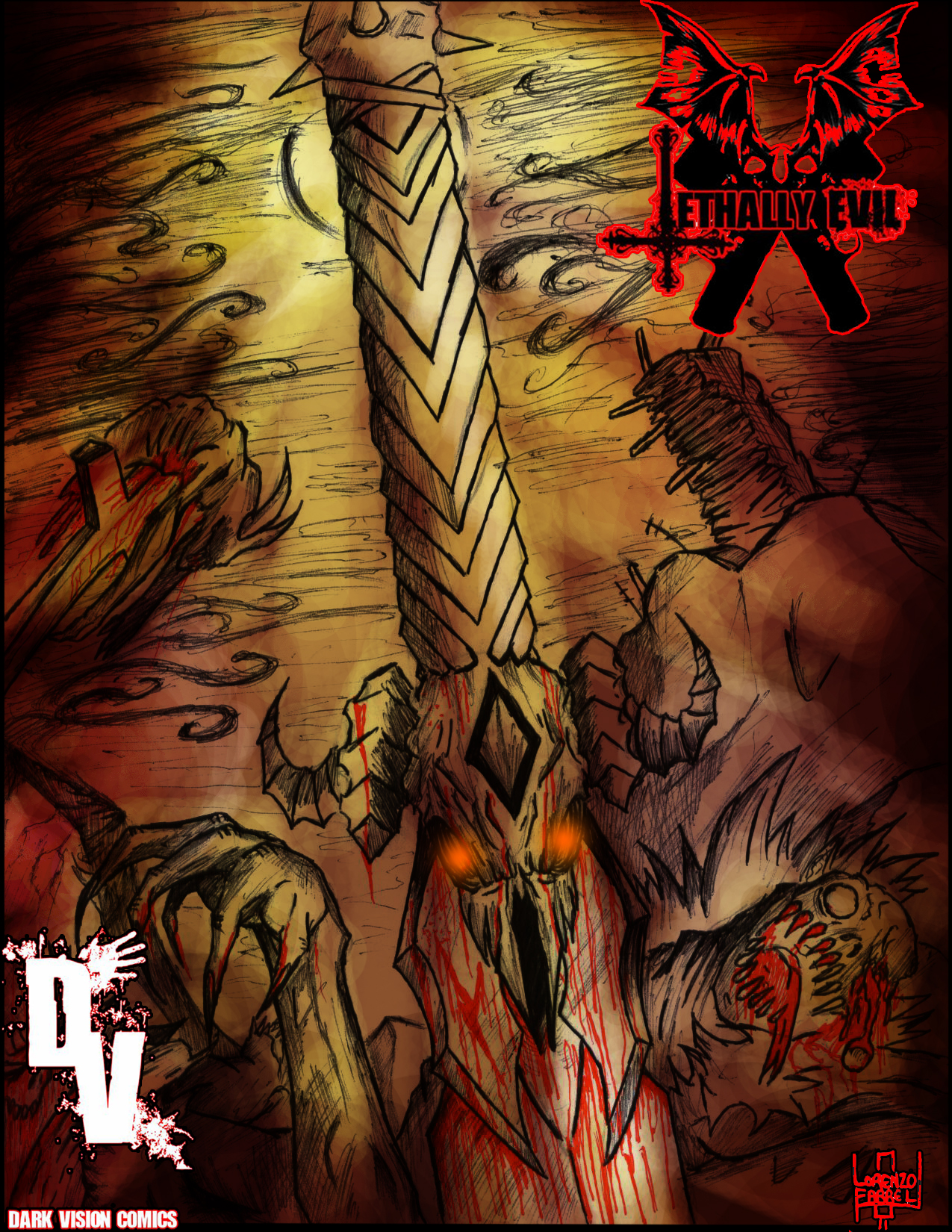 Lethally Evil Issue2 cover