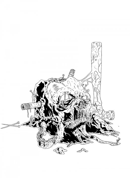 Skull. Hammer. Nails.