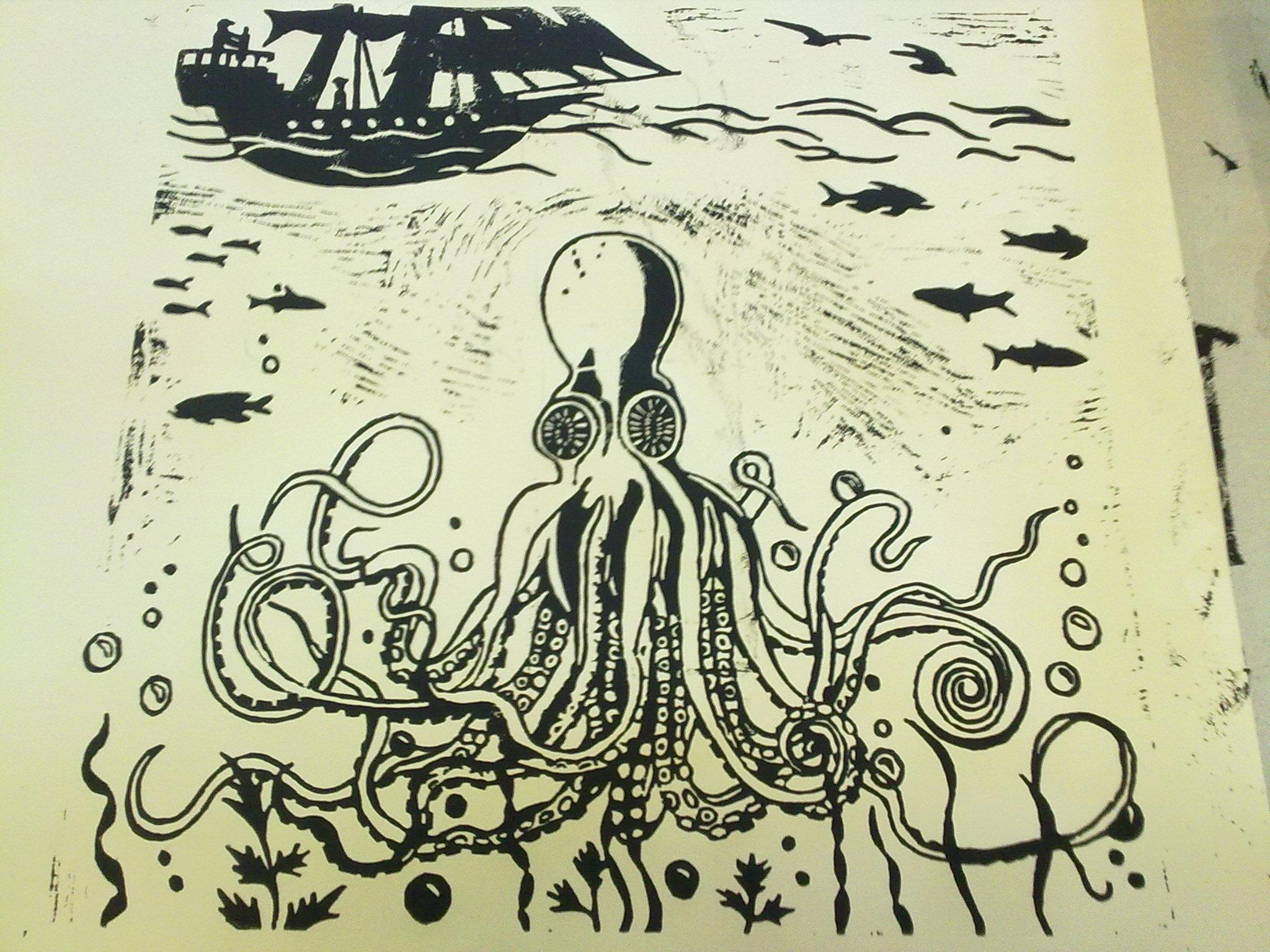 Ligger Dypt Kraken-Original