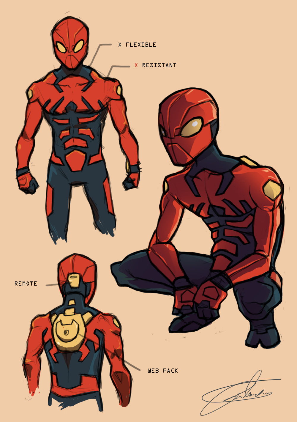 PR: Spider-man suite redesign
