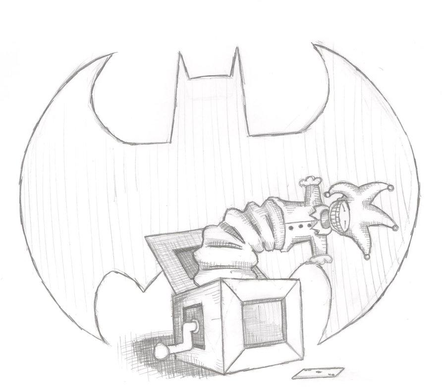 Joker themed drawing
