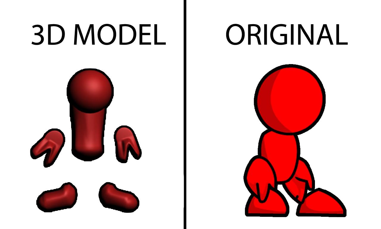 3D Redman Art