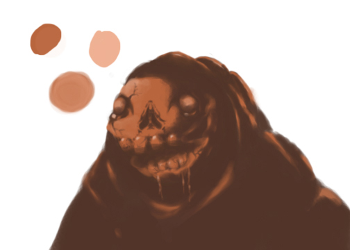 incomplete skull face man