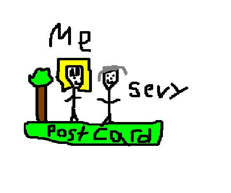 Sevvy and I (postcard)
