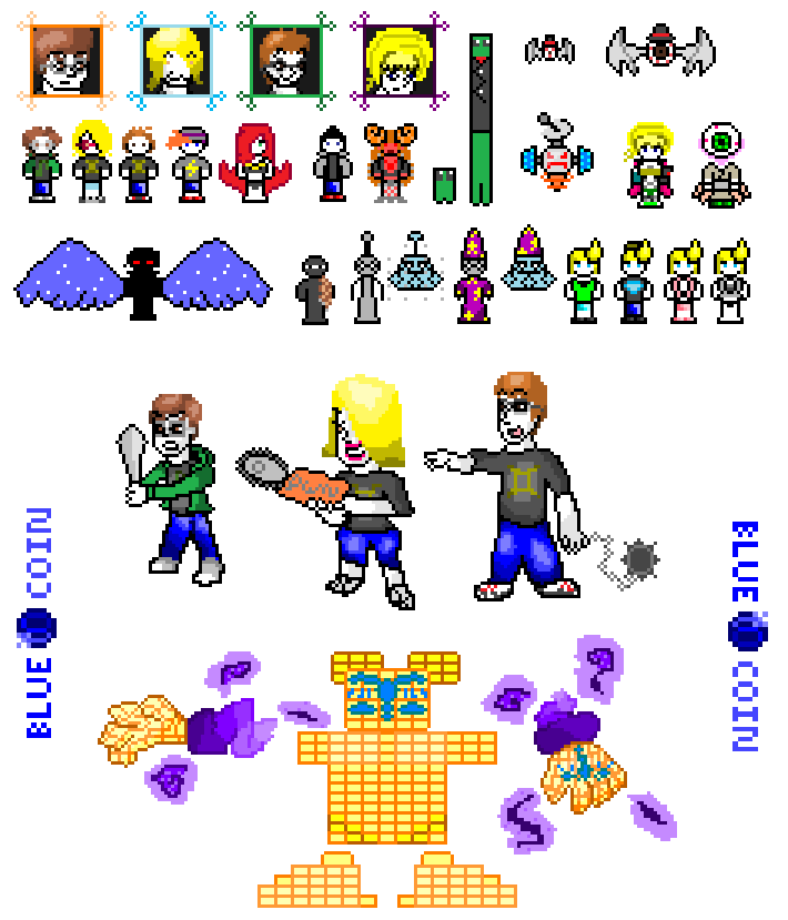 Blue Coin Pixel Collection 1