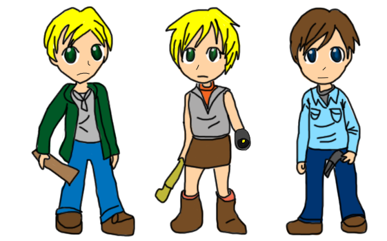 silent hill 2,3, and 4