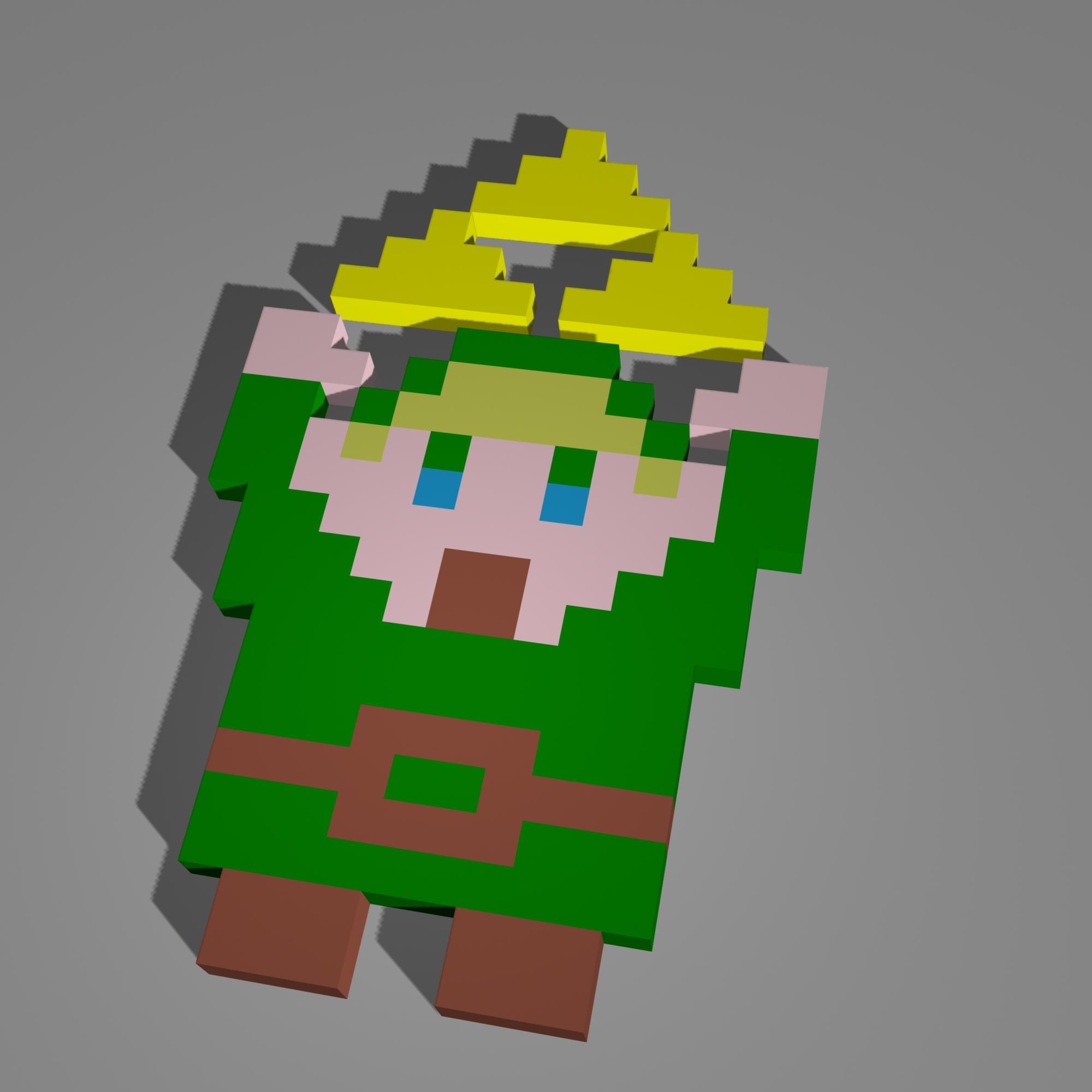 Link 3D Pixel Art