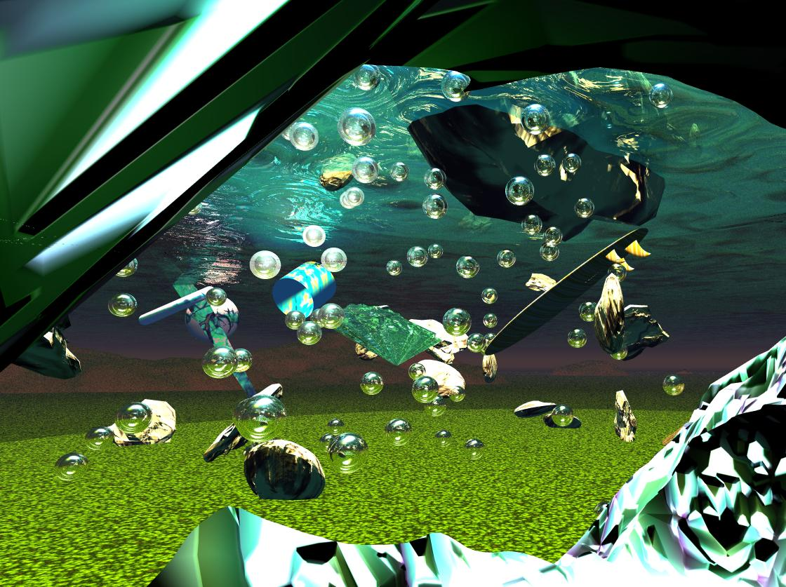 Underwater bryce scene