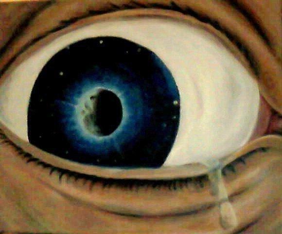 Maan in oog