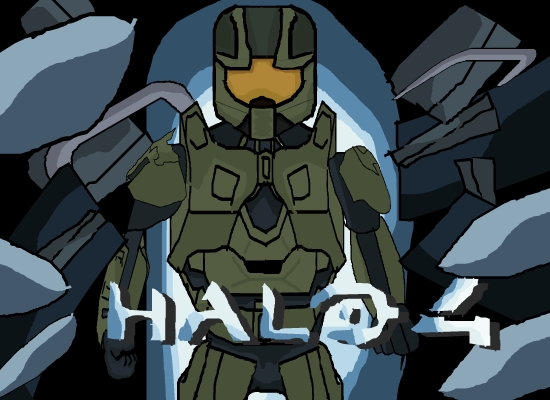 Halo 4 fan art poster