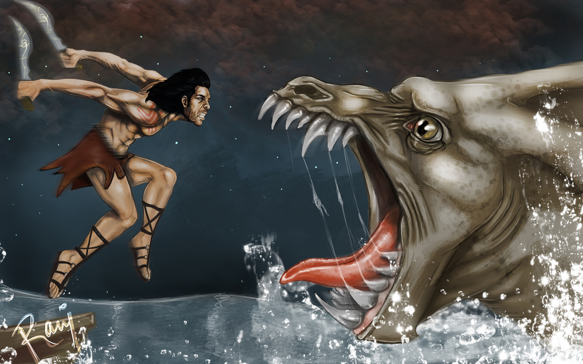 Unequal Fight!