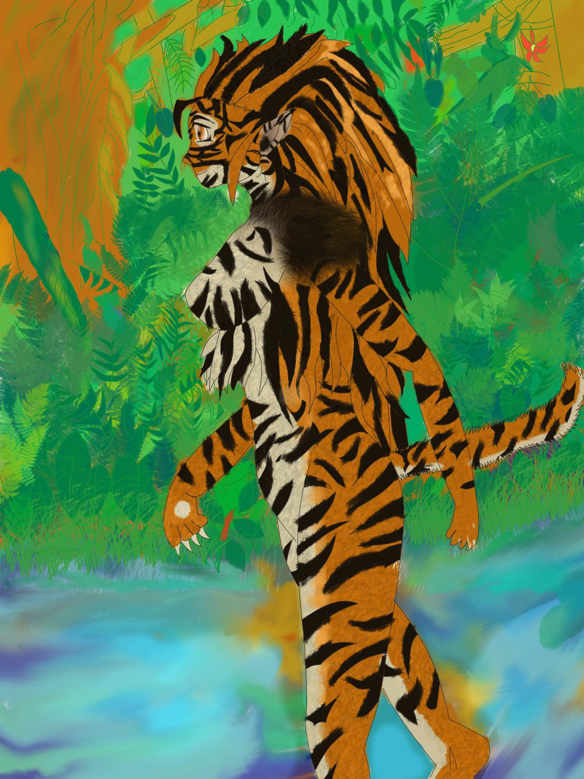 colored tigress