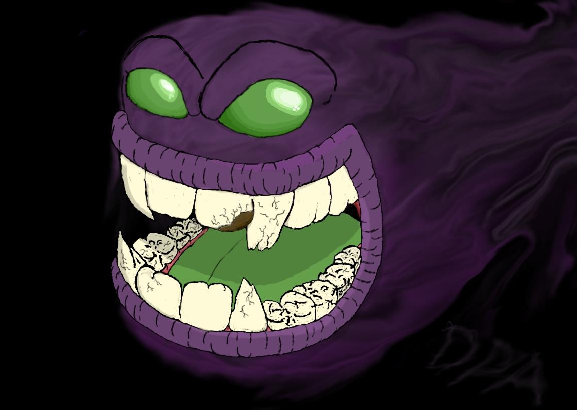 Purpler smoke monster