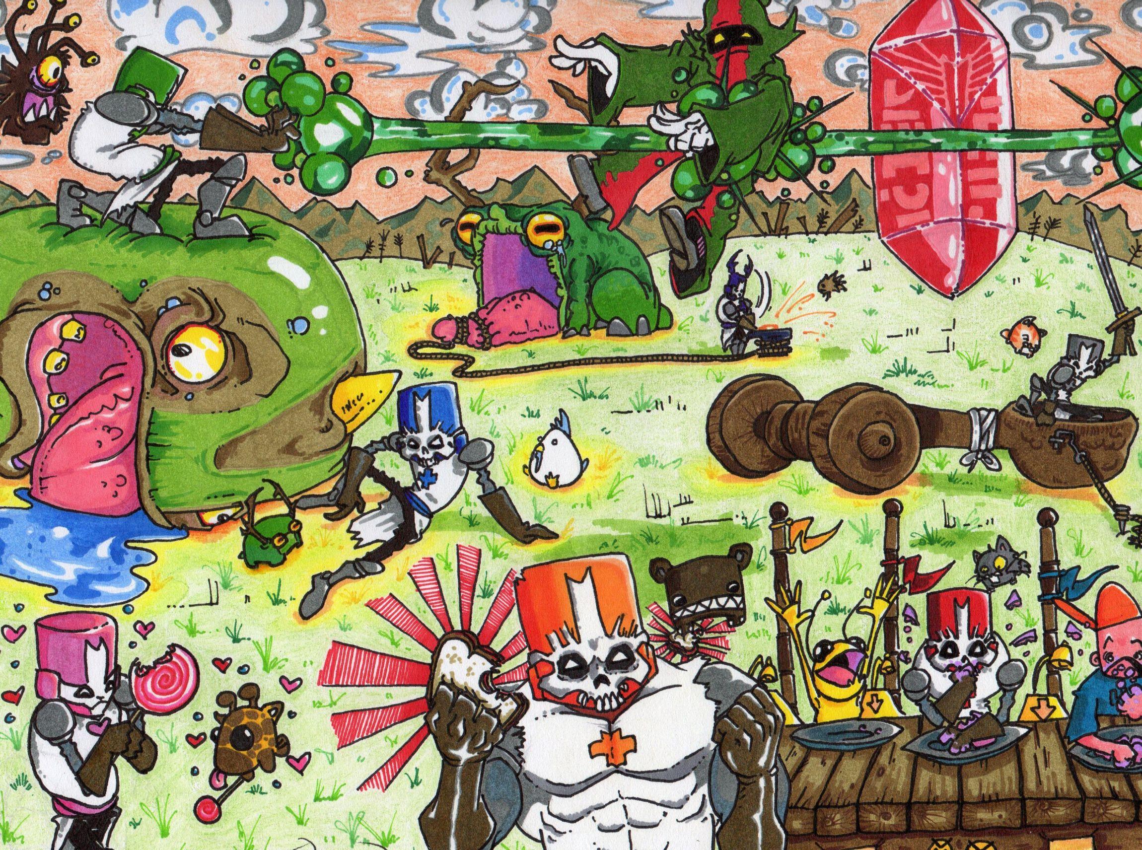 Calendar 2012 Castle Crashers