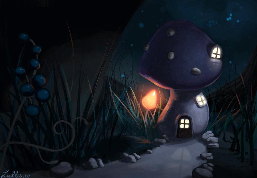 Away in a mushroom house